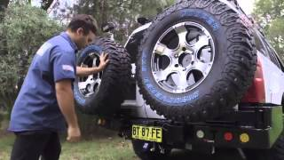 Powerful 4x4 DUAL SPARE WHEEL CARRIER ADVERTISEMENT