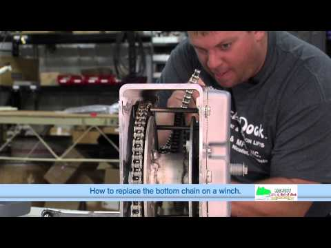 How to Replace the Bottom Chain on a Hewitt 1501, 2001 & 2501 Winch