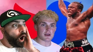 YouTuber Reactions to KSI Beating Logan Paul!