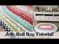 Jelly Roll Rug Tutorial von Erica Arndt