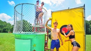 LAST TO GET DUNKED IN FREEZING WATER WINS $10,000!