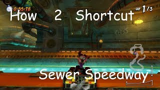 How to do the Sewer Speedway Shortcut Consistently (All Character Types) - CTR: Nitro-Fueled
