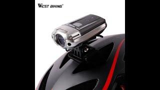 West Biking helmet light handlebar bike light review - aliexpress