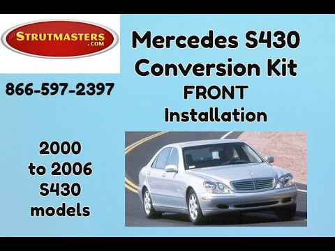 2000-2006 Mercedes S 430 Front Air Suspension Conversion Installation