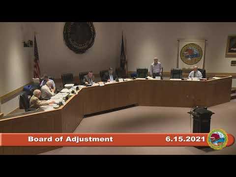 6.15.2021 Board of Adjustment