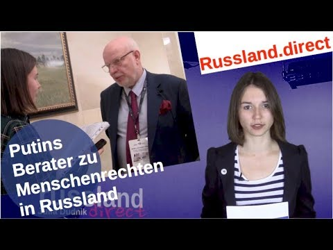 Putins Berater zu Menschenrechten in Russland [Video]