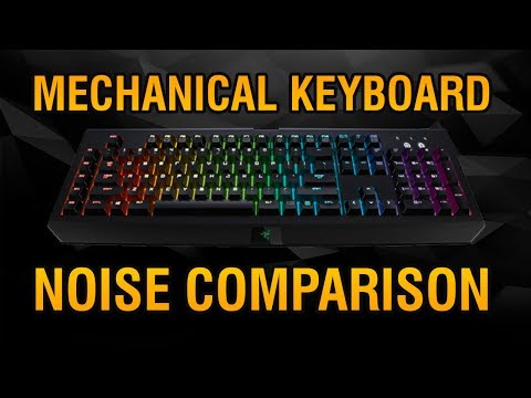 Linear mechanical keyboard switch sound comparison