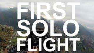 preview picture of video 'Il mio primo volo da solista in aliante - First solo glider - Belluno Italy HD'