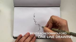 One Continuous Line Drawing By Katie Acheson Wolford