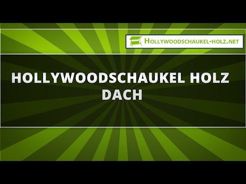 Hollywoodschaukel Holz Dach