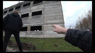 Небольшая прогулка к заброшенному зданию!!!!Охрана,камеры,собаки!#идиотшоу #заброшка