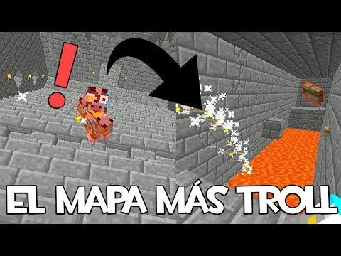 EL MAPA MÁS TROLL CON TRAMPAS PARA MINECRAFT 1.12