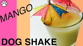How to make Tropical Mango Coconut Milk Dog Shake Smoothie for your Dog - by Cooking For Dogs