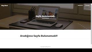 Codeigniter ile Blog Sitesi Yapımı-9 [404 Not Found & Sayfa Bulunamadı]