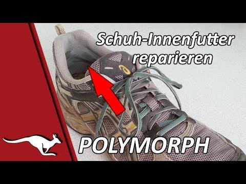 Schuh-Innenfutter reparieren mit Polymorph