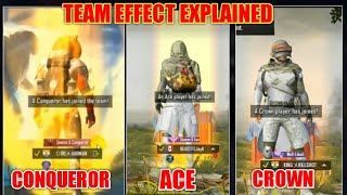 Pubg Mobile Season 9 Team Effect Explained || What  Is Team Effect in Pubg Mobile ?