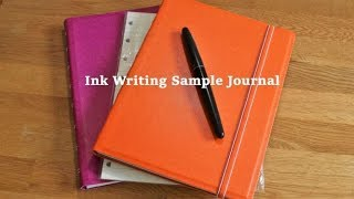My Ink Writing Sample Journal