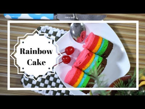 Resep Bolu Rainbow Roll Cake Mini