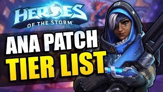 Ana patch - Tier List // Heroes of the Storm