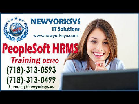Peoplesoft HRMS Online Training - Newyorksys.com - YouTube