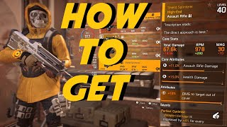 How to get the Shield Splinterer | NAMED F2000 | The Division 2