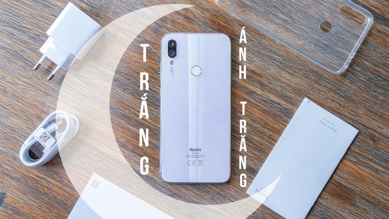 Trên tay Redmi Note 7 Moonlight White: Trắng Ánh Trăng quá đẹp