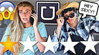 PICKED UP MY GIRLFRIEND IN AN UBER UNDER DISGUISE!! *She Ran*