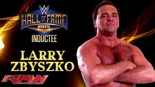 Larry Zbyszko is announced for the WWE Hall of Fame Class of 2015: Raw, March 16, 2015
