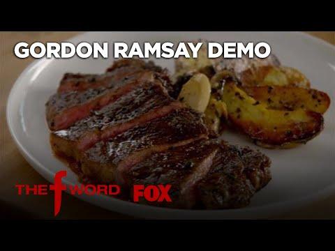 Gordon Ramsay Demonstrates How To Make New York Strip Steak | Season 1 Ep. 4 | THE F WORD