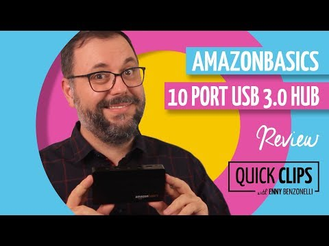 AmazonBasics 10 Port USB 3.0 hub – Review