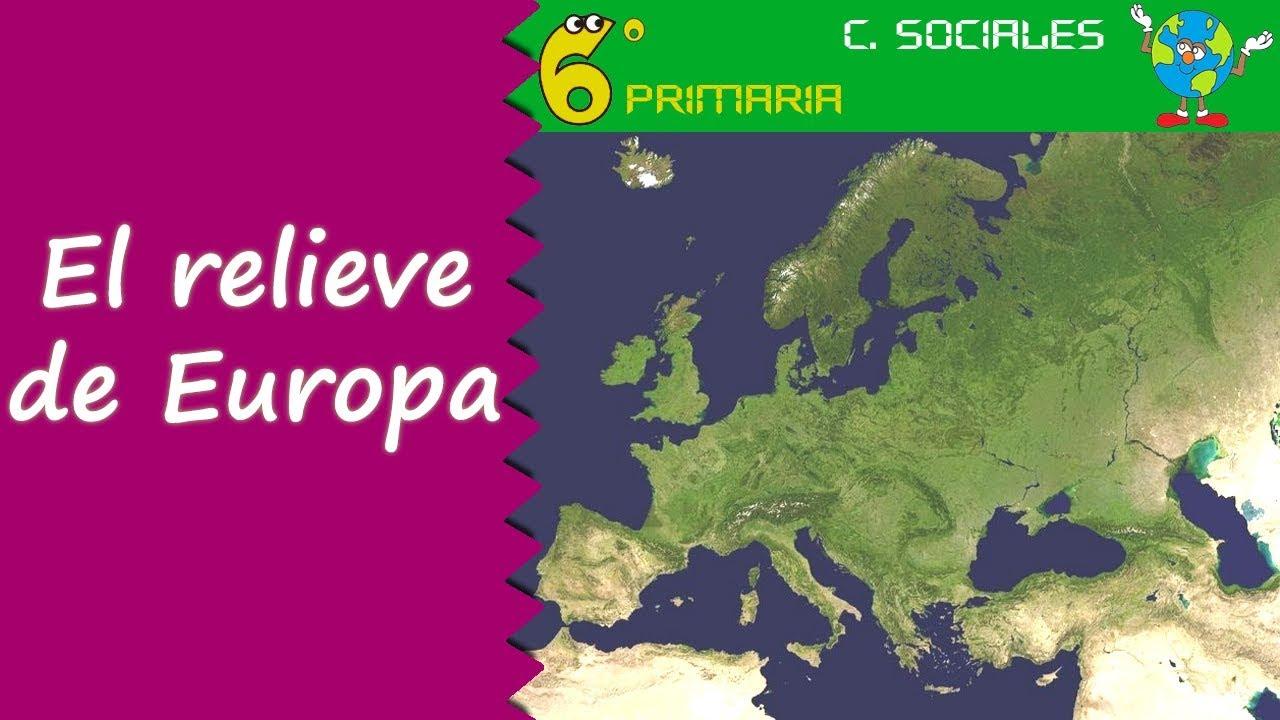 Relieve de Europa. Sociales, 6º Primaria