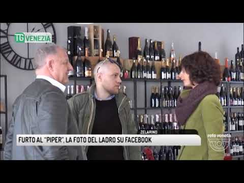 """TG VENEZIA (09/04/2018) - FURTO AL """"PIPER"""", LA FOTO DEL LADRO SU FACEBOOK"""