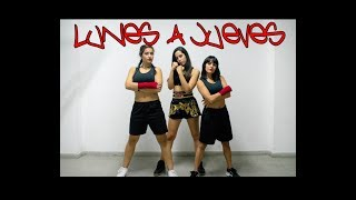 LUNES A JUEVES   Leslie Grace & Farina | Coreo Fitness (Zumba Fitness) By Marveldancers