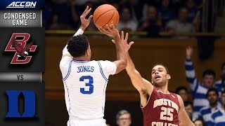 Boston College vs. Duke Condensed Game | 2018-19 ACC Basketball