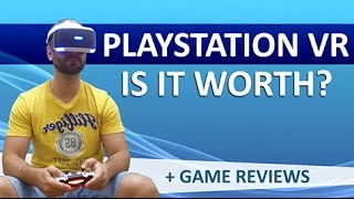 [ENGLISH] Playstation VR Review - Worth it?! VR Games Reviews and Previews! (2017)