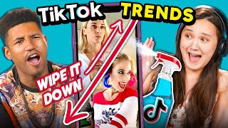 College Kids React To Top 4 TikTok Trends | (Wipe It Down, Hannah Montana Transition & More!)