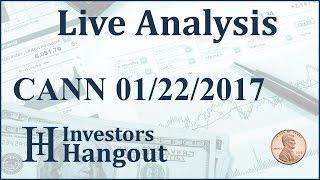CANN Stock Live Analysis 01-22-2017