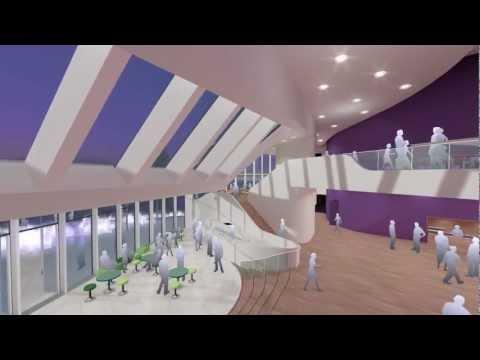 Futuristische theater Spijkenisse vol in aanbouw