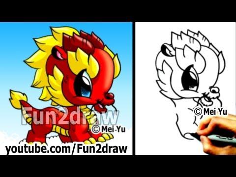 Fun2draw Dragon #4 | *Fun2draw Stars* by The Funny Drawers