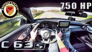 Mercedes C63 S AMG Coupe 750 HP MANHART 311 km/h AUTOBAHN POV by AutoTopNL