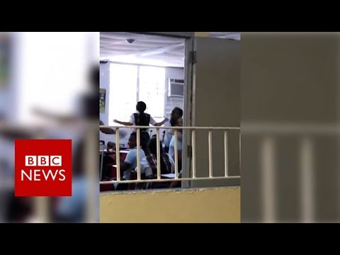 Puerto Rico school's joy as electricity restored after 112 days – BBC News