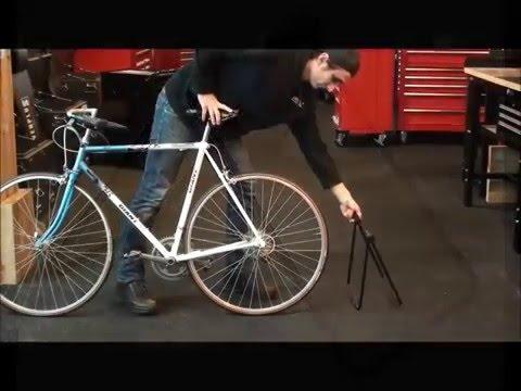 Fahrrad Ausstellungsständer einklappbar - Bodenständer - Fahrradständer klappbar von Powerplustools