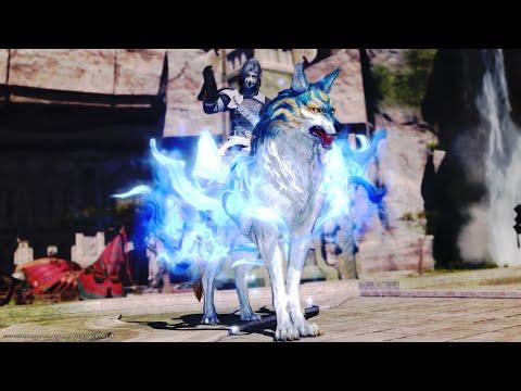 FINAL FANTASY XIV Seiryu Hallowed Kamuy mount - The Legendary Neil