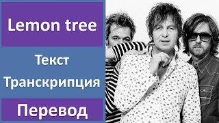 Английский по песням: Fool's garden - Lemon tree (текст, произношение, перевод, lyrics)