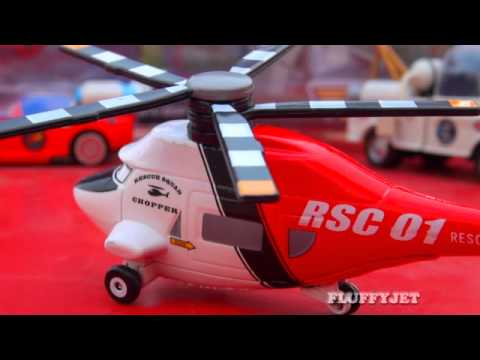 Cars Toon Rescue Squad Chopper Take Flight Copter Mattel Toys Disney Pixar Cars Toy Helicopter New