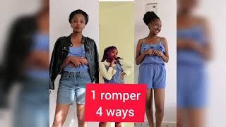 How to style one romper in 4 different ways