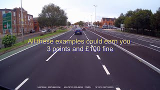 TRAFFIC LIGHTS 3 points and £100 fine