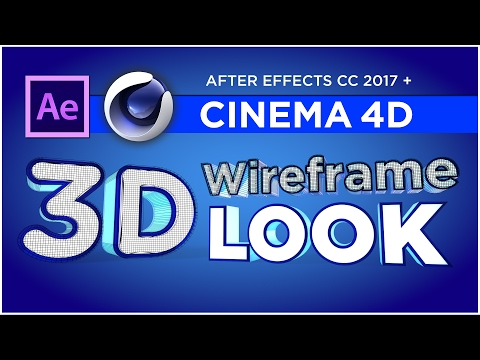 3d wireframe in after effects