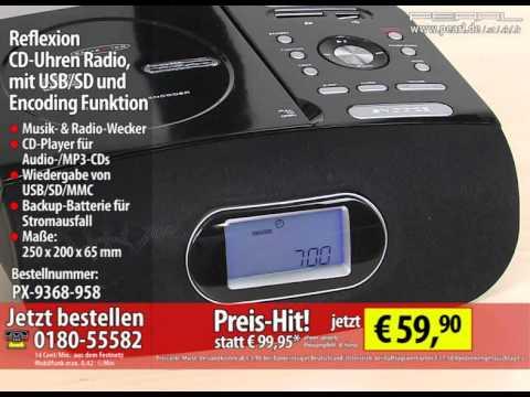 Reflexion CD-Uhren Radio, mit USB/SD und Encoding Funktion