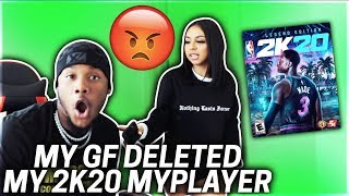 My Girlfriend deleted My Brand New 2k20 MY PLAYER !!! I ALMOST LOST IT